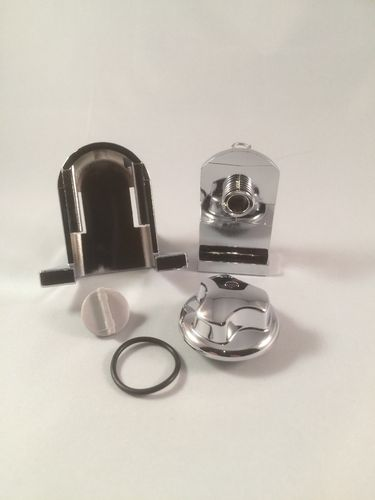 Chrome Spring Loaded Bottom Door Guide for Sliders & Quadrants (5421)