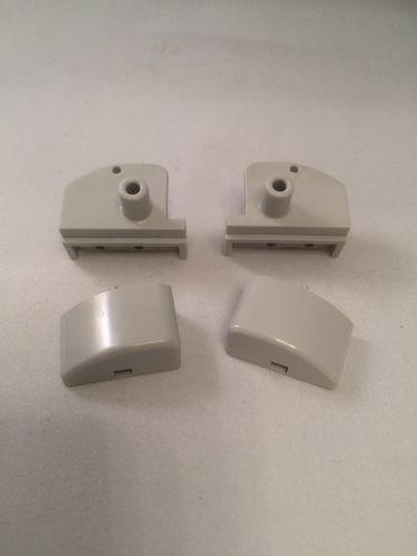 Pivot Block and End Cap (1 Left and 1 Right) (Grey)