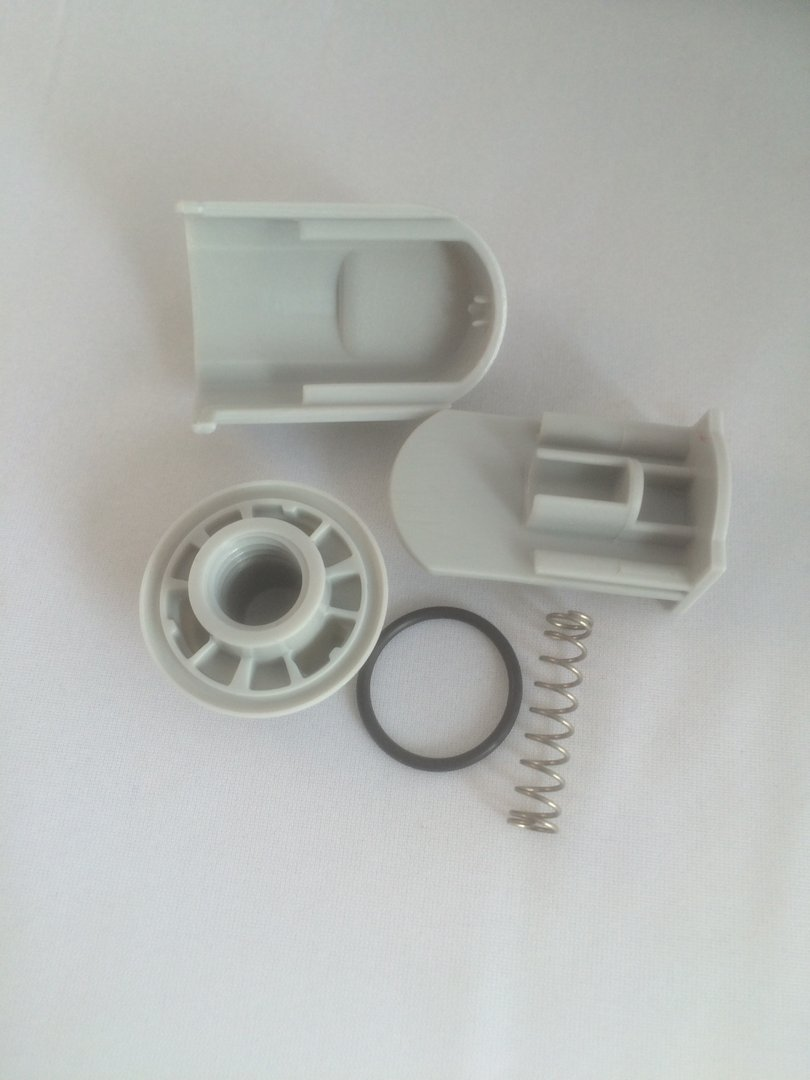 Grey Spring Loaded Bottom Door Guide For Sliders And